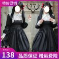 Dress Spring 2017 Dress in stock S,M,L Mid length dress singleton  Long sleeves Sweet High collar High waist other Socket Princess Dress Wrap sleeves Others 18-24 years old Type A Embroidery, lace Lolita