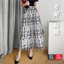 skirt Spring 2021 1 code = XS (support for return and exchange), 2 code = s (support for return and exchange), 3 code = m (support for return and exchange), 4 code = l (support for return and exchange), 5 code = XL (support for return and exchange) Color matching Mid length dress commute High waist