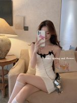 Dress Summer 2021 White suspender skirt 6 working days, white suspender skirt 8 working days, white suspender skirt 12 working days, white suspender 6 working days, white suspender 8 working days, white suspender 12 working days XS,S,M,L Sleeveless commute Crew neck High waist Solid color other bow