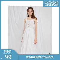 Dress Autumn of 2019 S,M,L,XL Mid length dress singleton  Sleeveless Sweet other Loose waist Solid color Socket Ruffle Skirt routine Others 18-24 years old Type A Westlink / Xiyu Lotus leaf edge 71% (inclusive) - 80% (inclusive) other cotton college