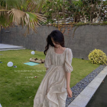 Dress Summer 2021 About 1-3 working days for wheat, 1-3 working days for rice white, 7-10 working days for wheat and 7-10 working days for rice white XS,S,M Middle-skirt singleton  three quarter sleeve Sweet other High waist Decor Big swing other camisole Type A Other / other More than 95% other