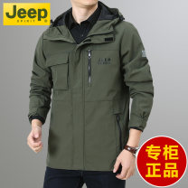 Jacket Jeep / Jeep Fashion City Khaki, yellow, army green M,L,XL,2XL,3XL,4XL routine standard Other leisure spring 20MA783JC81119519 Polyamide fiber (nylon) 100% Long sleeves Wear out Hood American leisure middle age Medium length Zipper placket 2021 Cloth hem No iron treatment Loose cuff Solid color