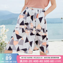 skirt Summer of 2019 S,M,L,XL colour Mid length dress Versatile High waist A-line skirt other Type A 25-29 years old 9XQB21585 other OLrain other Splicing