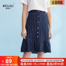 skirt Summer of 2018 S,M,L,XL Denim blue Mid length dress A-line skirt other Type A 25-29 years old 8XQB11553 31% (inclusive) - 50% (inclusive) other OLrain cotton