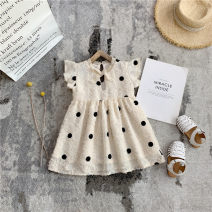 Dress Apricot, apricot long sleeves female Other / other 80cm,90cm,100cm,110cm,120cm,130cm,140cm Other 100% summer Korean version Short sleeve Dot other A-line skirt X55291 Class B 18 months, 2 years old, 3 years old, 4 years old, 5 years old, 6 years old Chinese Mainland