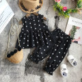 suit Other / other black 80cm,90cm,100cm,110cm,120cm,130cm female summer Korean version Sleeveless + pants 2 pieces Thin money No model Socket nothing Dot other elder Expression of love Class B Other 100% 12 months, 2 years old, 3 years old, 4 years old, 5 years old, 6 years old Chinese Mainland