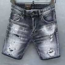 Jeans Youth fashion Tagkita / she and others 44 for 28.29, 46 for 30, 48 for 3132, 50 for 33.34, 52 for 35.36, 54 for 37.38 black routine Micro bomb Regular denim D975 Pant Other leisure summer youth Medium low back Slim feet tide 2021 Little straight foot Button cotton