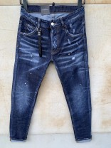 Jeans Fashion City Tagkita / she and others 44 for 28.29, 46 for 30, 48 for 31.32, 50 for 33.34, 52 for 35.36, 54 for 37.38 navy blue routine Micro bomb Regular denim trousers Other leisure Four seasons youth Medium low back Slim feet 2020 Little straight foot Button cotton