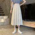 skirt Summer 2021 S,M,L Apricot, black longuette commute High waist Pleated skirt Dot Type A 18-24 years old 30% and below other other Korean version