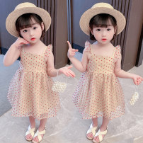 Dress Picture color female Other / other Size 90 (height 78-87cm, age 1-2), size 100 (height 88-97cm, age 2-3), Size 110 (height 98-107cm, age 3-4), Size 120 (height 108-117cm, age 4-5), Size 130 (height 118-130cm, age 5-6) Other 100% summer princess Short sleeve Solid color cotton Lotus leaf edge
