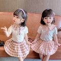 suit Other / other Purple, pink Size 80 (height 70-78cm, age 1), Size 90 (height 78-87cm, age 1-2), size 100 (height 88-97cm, age 2-3), Size 110 (height 98-107cm, age 3-4), Size 120 (height 108-117cm, age 4-5), Size 130 (height 118-130cm, age 5-6) female summer leisure time Short sleeve + skirt