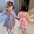 Dress Pink, blue female Other / other Size 90 (height 78-87cm, age 1-2), size 100 (height 88-97cm, age 2-3), Size 110 (height 98-107cm, age 3-4), Size 120 (height 108-117cm, age 4-5), Size 130 (height 118-130cm, age 5-6) Other 100% summer princess Short sleeve Solid color cotton Lotus leaf edge