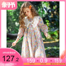 Dress Cherry powder collection and purchase enjoy priority delivery female Pptown / Baba town Cotton 100% summer lady Short sleeve Solid color cotton A-line skirt G211Q11Z17668 Class B Spring 2021 Chinese Mainland