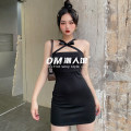 Dress Summer 2021 black S,M,L Short skirt singleton  Sleeveless street other High waist Solid color other One pace skirt other camisole 18-24 years old Type H OMWAD10094 91% (inclusive) - 95% (inclusive) polyester fiber Europe and America