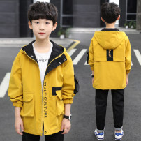 Plain coat Other / other male 110cm,120cm,130cm,140cm,150cm,160cm,170cm spring and autumn Korean version Zipper shirt There are models in the real shooting routine No detachable cap Cartoon animation other Crew neck