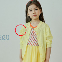 Plain coat Other / other female 5(90cm),7(100cm),9(110cm),11(120cm),13(130cm),15(140cm) White (scheduled for 7-15 days), yellow (scheduled for 7-15 days) summer Korean version There are models in the real shooting nothing Solid color other Crew neck Other 100% Class A