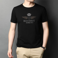 T-shirt Fashion City Black, white, navy thin 165/80A,170/84A,175/88A,180/92A,185/96A,190/100A Chiamania Short sleeve Crew neck easy Other leisure summer baobao1256500 Cotton 100% middle age routine American leisure other 2020 Geometric pattern Hot drilling mulberry silk Brand logo Hot drilling