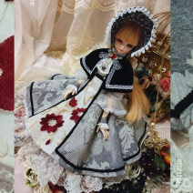 Dress Autumn of 2018 ash longuette other Long sleeves Sweet other middle-waisted Decor other Ruffle Skirt other Others Type X Mushroom hunting doll solar system