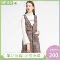 Dress Autumn of 2019 Red and green S,M,L,XL Mid length dress singleton  Sleeveless commute V-neck High waist lattice Socket A-line skirt straps 25-29 years old Type A Enrini Simplicity E8DLOB969