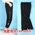 Casual pants black 4XL,5XL,6XL,7XL,8XL,9XL Autumn of 2019 Ninth pants Haren pants High waist commute Thin money 25-29 years old bb7131