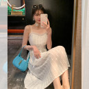 Dress Spring 2021 White moonlight long sleeve skirt, white moonlight suspender skirt S,M,L Mid length dress singleton  Long sleeves Sweet square neck High waist Solid color Socket A-line skirt puff sleeve Others Type X Dreamers MD2030365 31% (inclusive) - 50% (inclusive)