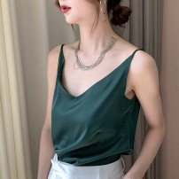 Vest sling Summer 2020 White, black, dark green, ginger M, L singleton  routine easy Versatile camisole Solid color 25-29 years old 30% and below other Other / other