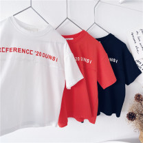 T-shirt White, black, red Other / other 90cm,100cm,110cm,120cm,130cm,140cm,150cm neutral summer Short sleeve leisure time No model nothing cotton other Sweat absorption 18 months, 2 years old, 3 years old, 4 years old, 5 years old, 6 years old, 7 years old, 8 years old, 9 years old