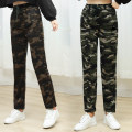 Casual pants Green camouflage, army green camouflage, brown camouflage, letter camouflage, red star camouflage, green star camouflage L,XL,2XL,3XL,4XL trousers Straight pants High waist commute routine polyester fiber rural belt polyester fiber