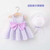 Dress female Other / other 73cm,80cm,90cm,100cm,110cm,120cm,130cm,140cm Cotton 100% summer Skirt / vest other Irregular 9 months, 18 months, 2 years old, 3 years old, 4 years old, 5 years old, 6 years old, 7 years old