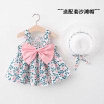 Dress female Other / other 73cm,80cm,90cm,100cm,110cm,120cm Other 100% summer Cotton and hemp A-line skirt 12 months, 9 months, 18 months, 2 years old, 3 years old, 4 years old, 5 years old, 6 years old, 7 years old