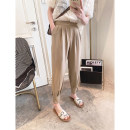 Casual pants Black, Khaki M,L,XL Spring 2021 trousers Haren pants High waist commute routine 25-29 years old Other / other Korean version pocket