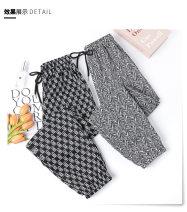 Casual pants Black letters, white letters, waves, thousand bird grid M,L,XL Summer 2021
