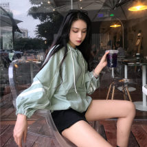 short coat Autumn of 2018 Average size (160 / 84A) Green black Long sleeves routine routine singleton  easy puff sleeve Hood zipper 18-24 years old P540 other