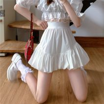 skirt Summer 2021 S,M,L White, black Short skirt commute High waist Cake skirt Solid color Type A 18-24 years old ysg8216 51% (inclusive) - 70% (inclusive) other Other / other other zipper Korean version 401g / m ^ 2 (inclusive) - 500g / m ^ 2 (inclusive)