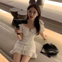 Dress Summer 2021 Dress S, M Short skirt singleton  Sleeveless commute other High waist Solid color Socket A-line skirt Others 18-24 years old Type A Other / other Korean version backless 30% and below other other