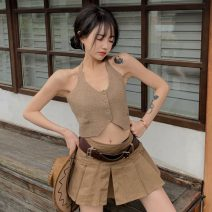 Fashion suit Summer 2021 S. M, l, average size Sling, skirt 18-25 years old Other / other ZXJ6114 30% and below