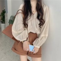 Fashion suit Spring 2021 Average size Apricot shirt, Brown Shorts 18-25 years old Other / other ysg5934 30% and below