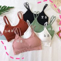Bras Average size (160 / 84A) U-shaped Fixed shoulder strap No buckle Wireless  Full cup Other / other Girls (18-25 years old) motion Medium thick cup Insert bag letter motion 21% (inclusive) - 40% (inclusive)