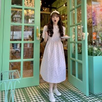 Dress Summer 2021 Picture color Average size longuette singleton  Short sleeve commute other High waist Broken flowers other A-line skirt puff sleeve 18-24 years old Type A Other / other Korean version tassels ysg8558 51% (inclusive) - 70% (inclusive) other other