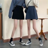 skirt Spring 2021 S,M,L,XL Blue, black Short skirt commute High waist A-line skirt Solid color Type A 18-24 years old YM6282 30% and below other Other / other other Korean version