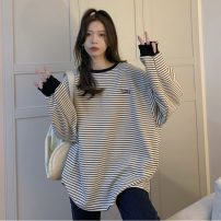 T-shirt White, black Average size Spring 2021 Long sleeves Crew neck easy Regular routine commute other 30% and below 18-24 years old Korean version Other / other lym13254