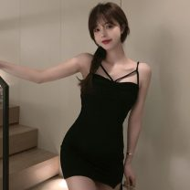 Dress Summer 2021 Camel, black S,M,L Short skirt singleton  Sleeveless other High waist Solid color Socket other other camisole 18-24 years old Type A Other / other ZXJ6350 30% and below other other