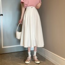 skirt Summer 2021 S,M,L White, black Mid length dress Versatile A-line skirt Solid color Type A 18-24 years old ysg8538 31% (inclusive) - 50% (inclusive) other Other / other other