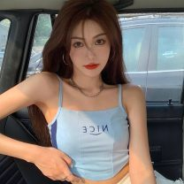 Vest sling Summer 2021 Green, blue Average size singleton  have cash less than that is registered in the accounts Self cultivation Versatile camisole Solid color 18-24 years old 30% and below other ZXJ5226 Other / other backless