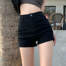 Casual pants White, black S,M,L Summer 2021 shorts loose  High waist Versatile routine 18-24 years old 30% and below ysg8555 Other / other other pocket