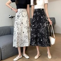 skirt Summer 2021 S,M,L White, black Mid length dress Versatile High waist other Type A 18-24 years old 30% and below other other