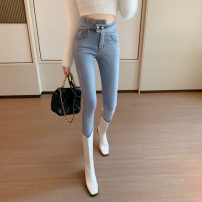 Jeans Spring 2021 Light blue regular 8996, black regular 8996# S,M,L High waist Pencil pants 18-24 years old washing ysg6687 Other / other 71% (inclusive) - 80% (inclusive)