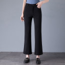 Casual pants Black, Khaki 1 = 27 (2.0 feet), 2 = 28 (2.1 feet), 3 = 29 (2.2 feet), 4 = 30 (2.3 feet), 5 = 31 (2.4 feet), 6 = 32 (2.5 feet), 7 = 33 (2.6 feet) Spring 2021 Ninth pants Flared trousers High waist Versatile routine 81% (inclusive) - 90% (inclusive) Girdard / brother-in-law nylon nylon