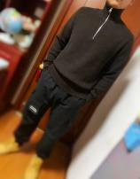 T-shirt / sweater Others Fashion City Dark brown, navy S,M,XS routine Socket stand collar Long sleeves winter Straight cylinder leisure time Business Casual youth routine Solid color No iron treatment Regular wool (10 stitches, 12 stitches) wool blend