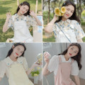 Dress Summer 2021 Middle-skirt singleton  Sleeveless commute other Loose waist Solid color Condom other other straps 18-24 years old Type H Korean version pocket 30% and below other cotton S,M,L